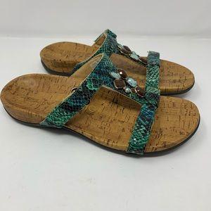 Vionic Slip On Cork Adjustable Strap Sandals